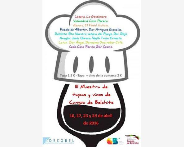 Tercera Edición de la Muestra de Tapas y Vino de Campo de Belchite